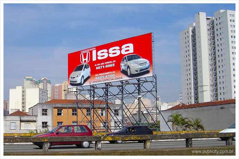 Painéis de publicidade
